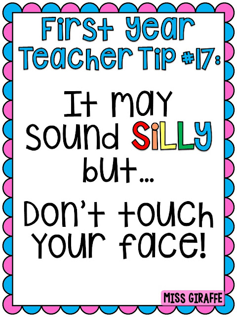 Great tips for new teachers! If you are a first year teacher, definitely read this list!