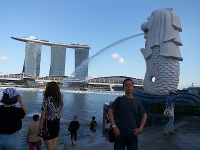 Marina Bay Sands, Merlion Park.