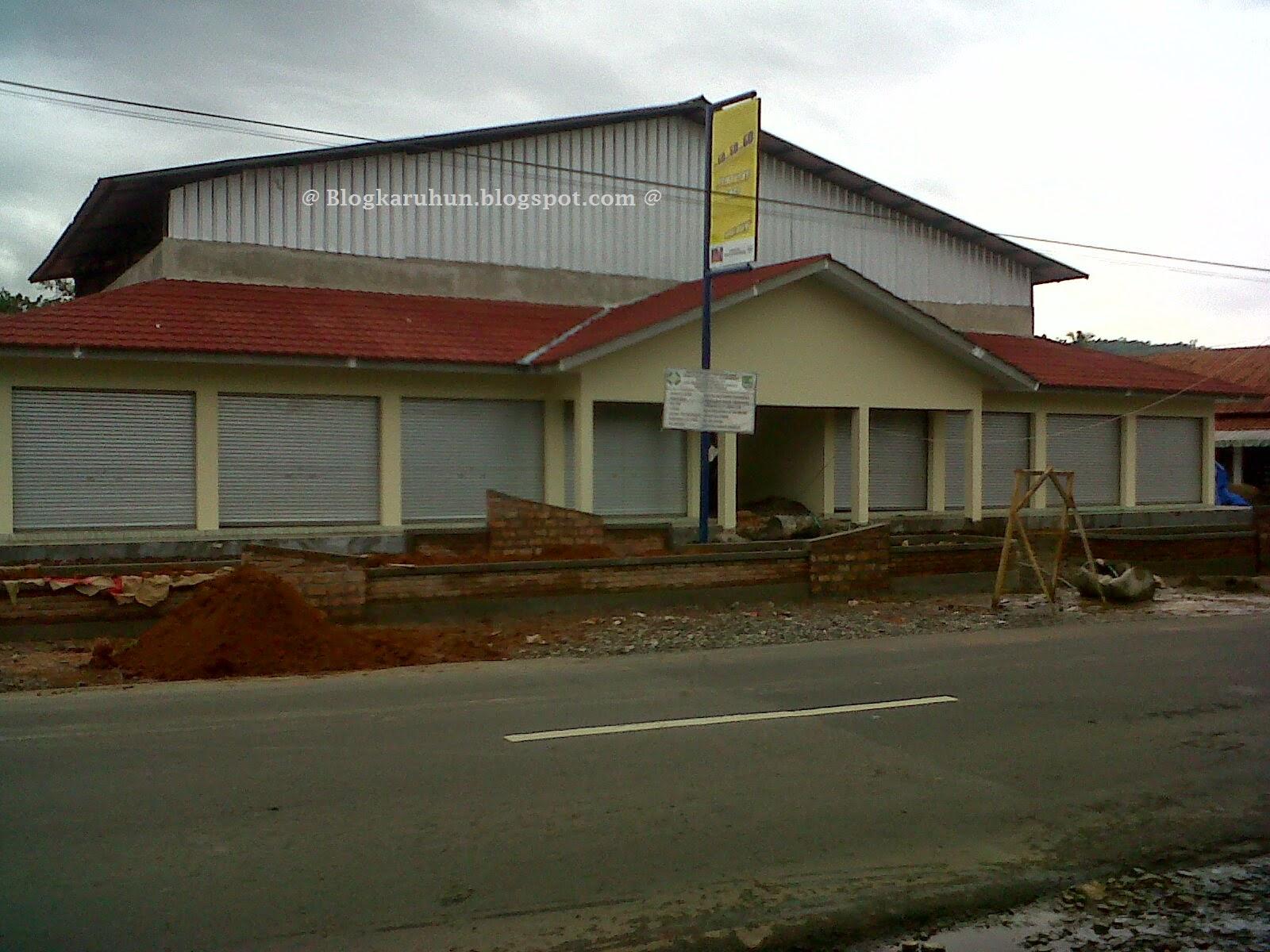 proses pembangunan pasar tanjungsari renovasi