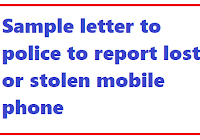 Sample letter format to lodge a police F I R (First