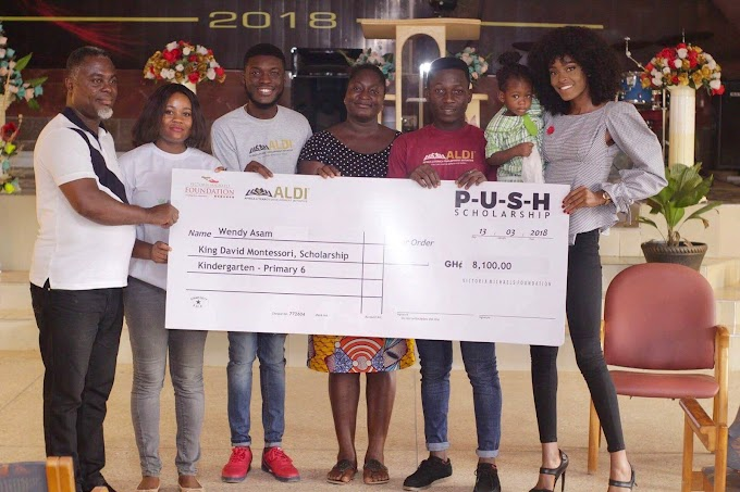 Victoria Michaels Foundation awards scholarship to two deprived children in Takoradi