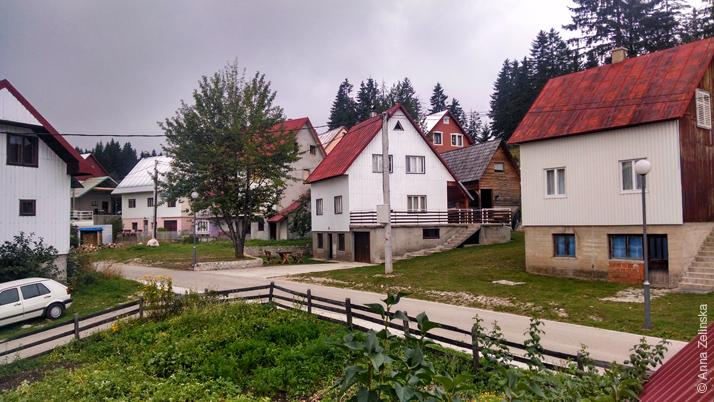 Улица в городе Жабляк, Черногория