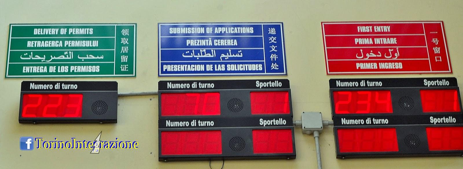 Torino integrazione permesso di soggiorno for Controllare il permesso di soggiorno