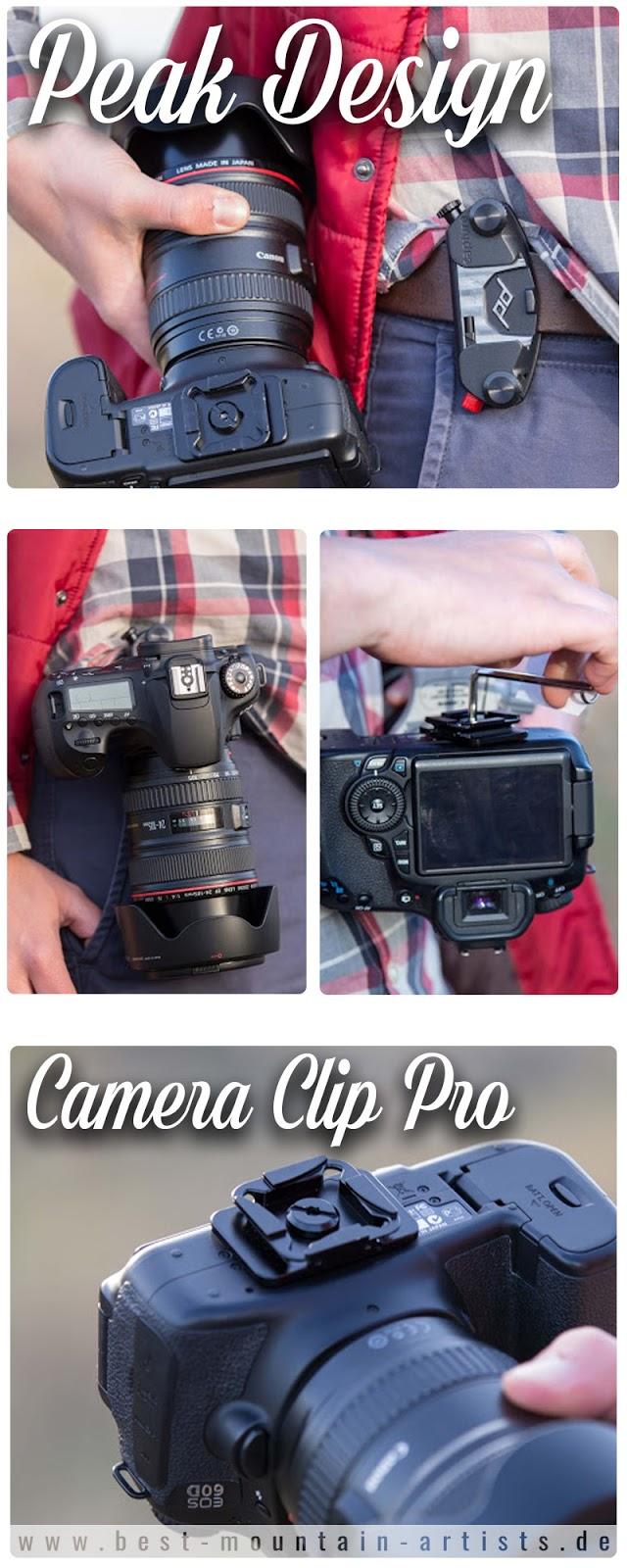 Gear of The Week #GOTW KW 12 | Peak Design Camera Clip Pro | Kamerahalterung mit quick-release Funktion für DSLR und DSLM Kameras