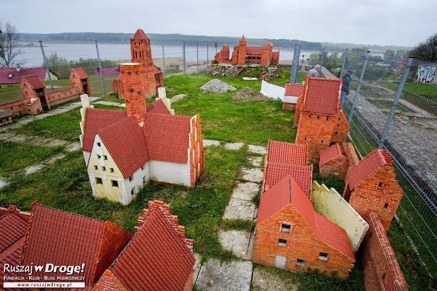 Prabuty - stare miasto i zamek w miniaturze