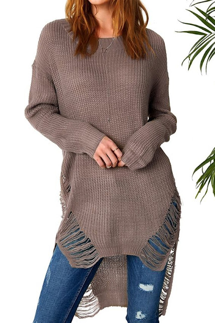 High Low Knitting Sweater Dress
