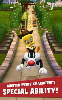 Download Looney Tunes Dash! Apk v1.67.16 Mod (Free Shopping/Invincible) Terbaru 2016
