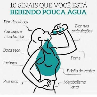 10 Sinais de que você está bebendo pouca água