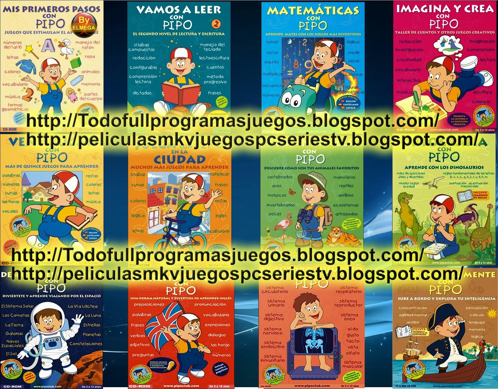 Peliculasmkv 17 Juegos De Aprendizaje De Pipo Full Español Iso Mega 4shared