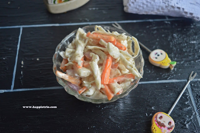 Coleslaw Recipe | Cabbage Mayonnaise  Salad