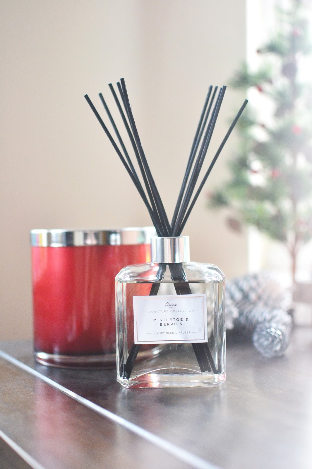 linea reed diffuser, home accessories, christmas candles