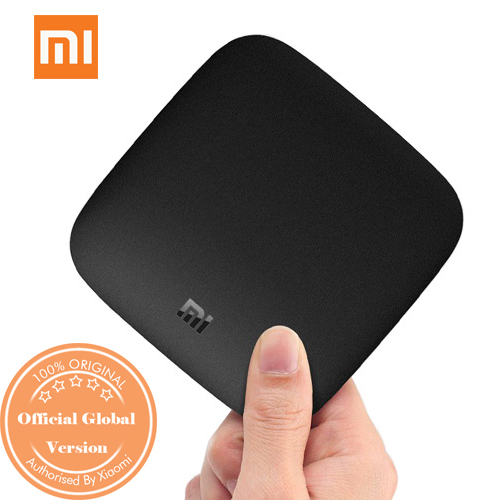 XIAOMI 4K Mi Box Android TV 8.0 Oreo Set-top Box Netflix 4K Streaming H.265 VP9 HDR Video Dolby DTS Certified-Official International Version