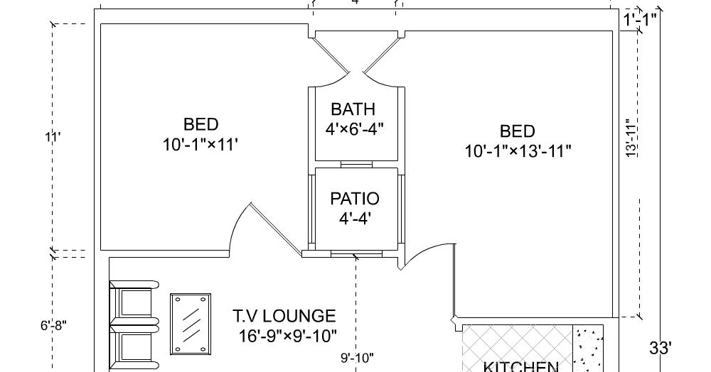 3 Marla House Plan 25 39 6 33 39
