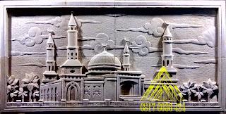 batu alam paras jogja atau batu paras putih ornamen masjid