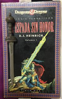 Portada del libro La espada sin honor, de D. J. Heinrich