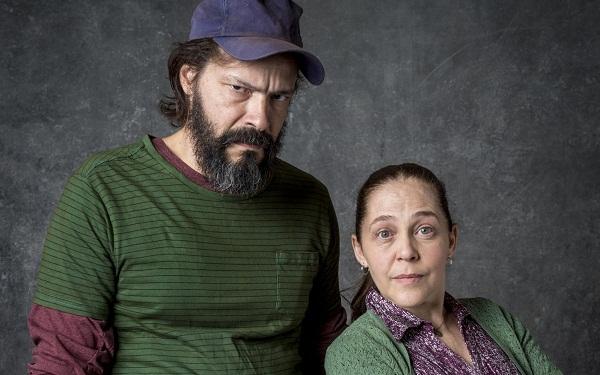 Isabela Garcia e Heitor Martinez celebram parceria em 'O Sétimo Guardião' (Foto: João Cotta/Globo)