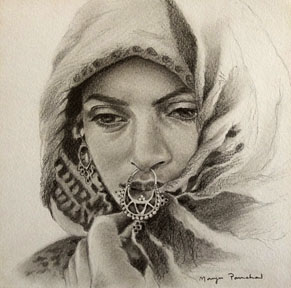 Pencil portrait crteated using HB pencils. By Manju Panchal
