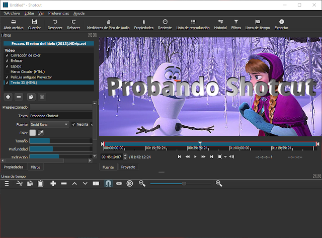 Shotcut 20.06.28 - Editor de video gratuito con funciones profesionales