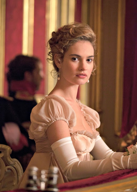 Lily James in War and Peace that premieres on 26th June at 10 PM only on...