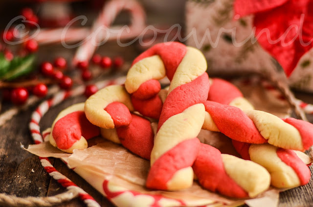 Candy Cane Twist Cookies