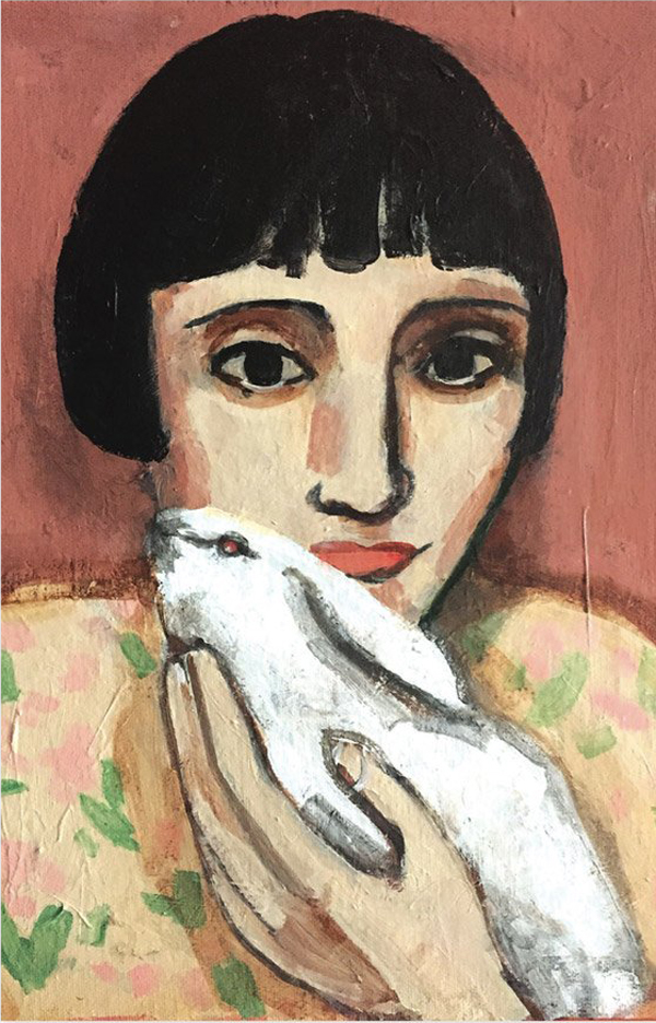 Girl with hare