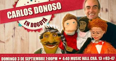 Show de Carlos Donoso en Bogotá