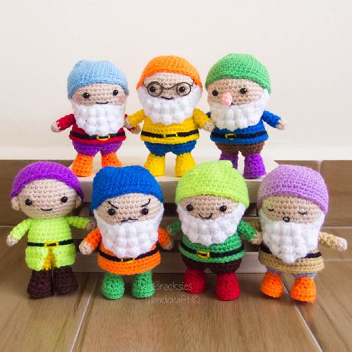 Seven Dwarfs Amigurumi - Free Pattern