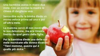 La mela più dolce alla mamma