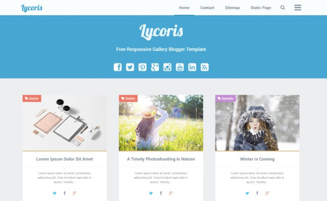 Lycoris Grid and Responsive Galeri Blogger Teması