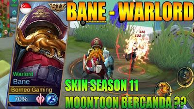 Bane Warlord Skin S11 (Season 11) Mobile Legends: Bang Bang