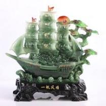 Hiasan Feng shui kapal dagang
