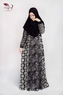 Gamis batik wanita modern untuk hang out