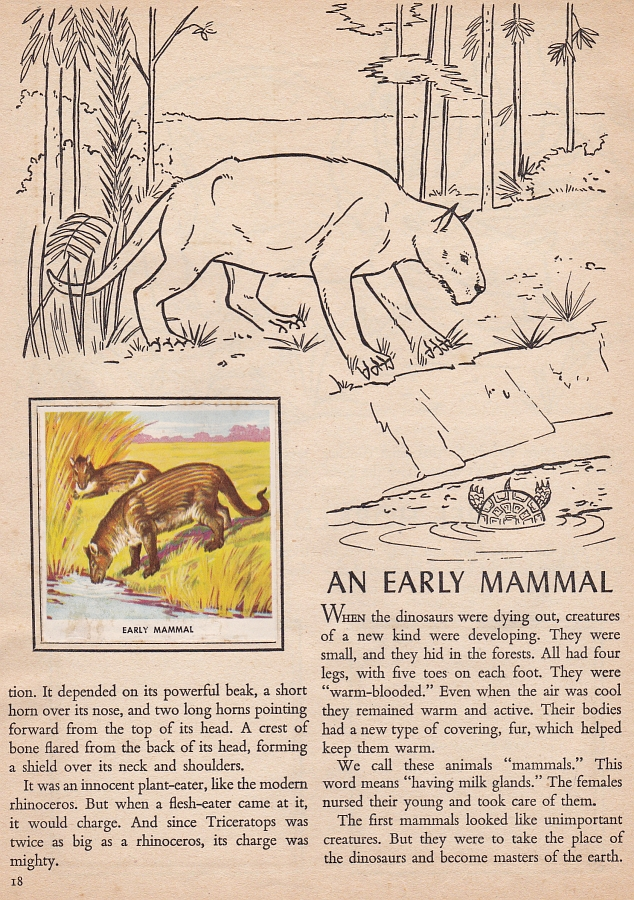 Vintage Dinosaur Art: Animals of the Past Stamps - Part 2