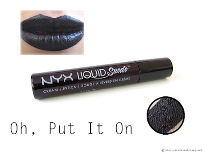 NYX Liquid Suede Cream Lipstick Review Swatches LSCL20 Oh, Put It On