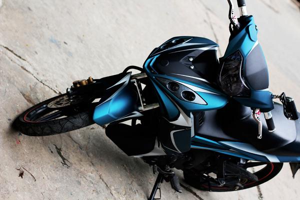 Sơn phối màu xe Yamaha Exciter 2010