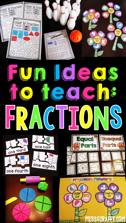 Miss Giraffe's Class: Fractions in First Grade [ 1440 x 816 Pixel ]