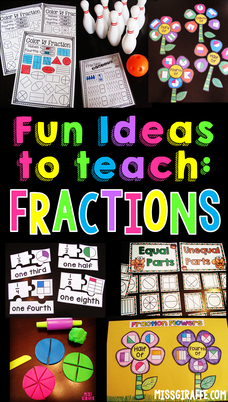 hight resolution of Miss Giraffe's Class: Fractions in First Grade