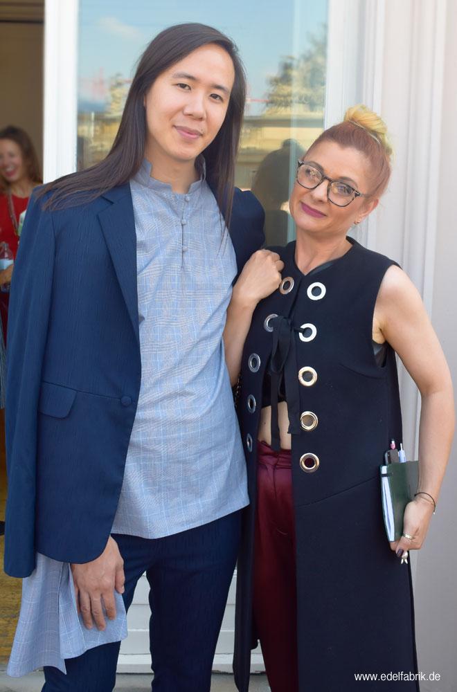 William Fan und Chrissie aus der Edelfabrik beim Berliner Modesalon