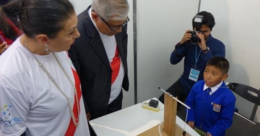 MINEDU: Escolares de más de 100 colegios participan en etapa final de la Feria Nacional de Ciencia y Tecnología «Eureka» www.minedu.gob.pe