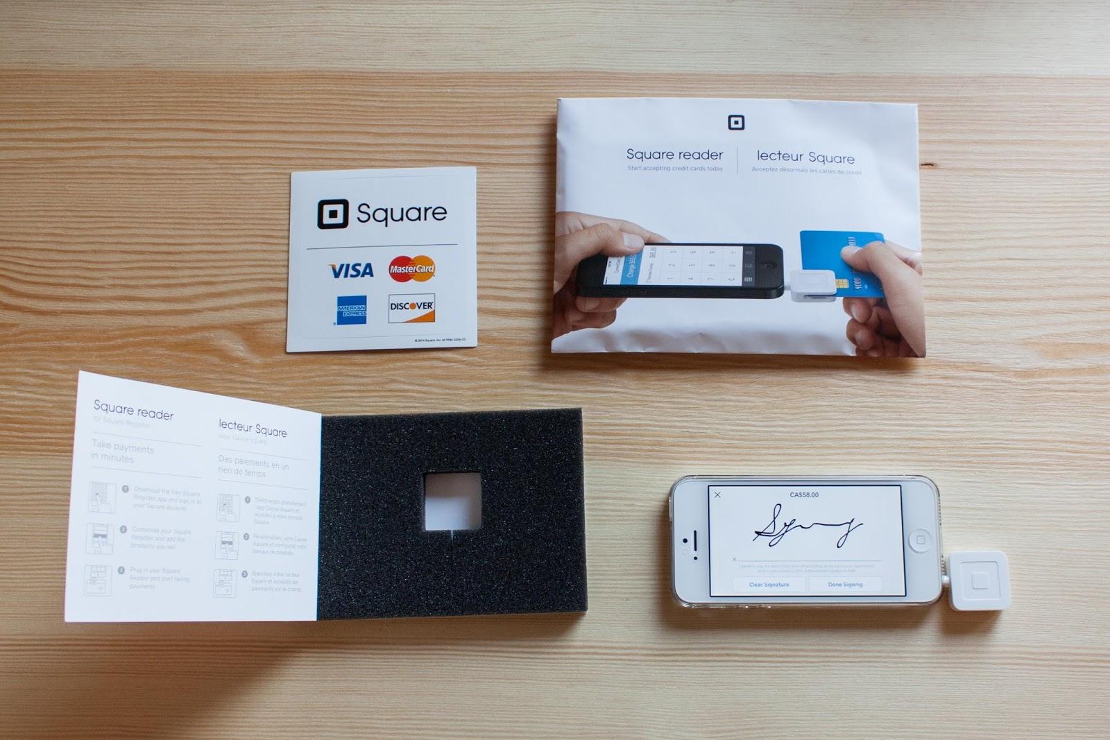 行動刷卡器 Square Reader - Photo/ SIDONIEYANG 紙樣手創設計
