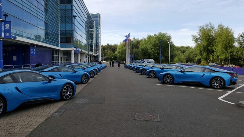 Photos: 19 Leicester City players get exotic BMW i8 sports cars for winning EPL
