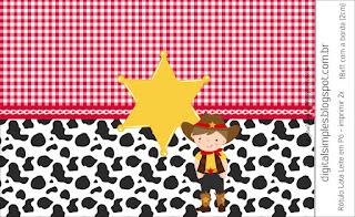 Little Cowboy: Free Printable Candy Bar Labels.