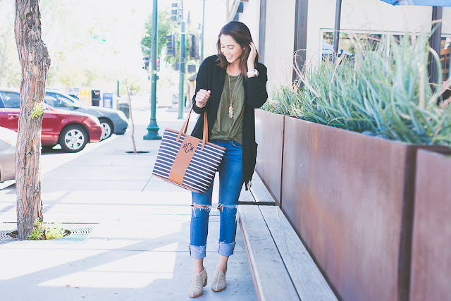 Black cardigan with booties for Fall