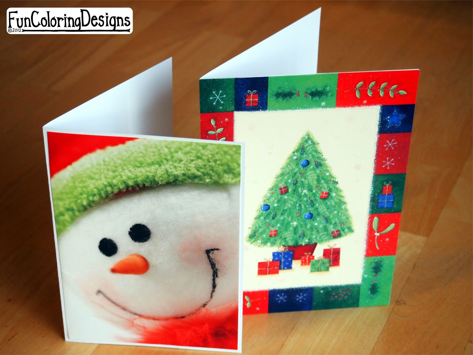 Fun Coloring Designs: DIY Upcycle Old Christmas Cards - Holidy Ideas