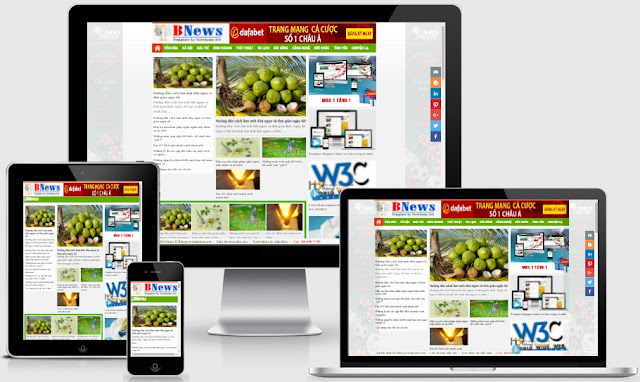 Template blogspot tin tức Bnews