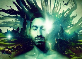 A man dreaming.
