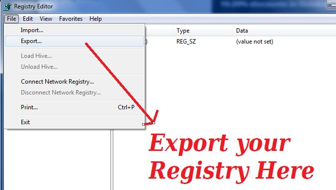 how to change registry on laptop