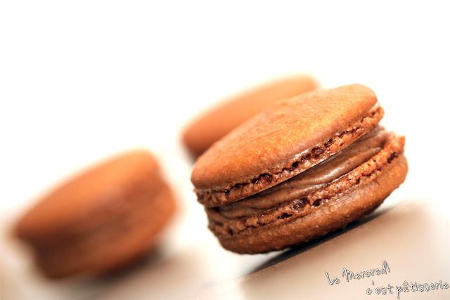 Macarons au gianduja
