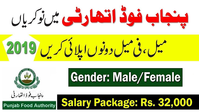 Punjab Food Authority Jobs 2019 Download Application Form