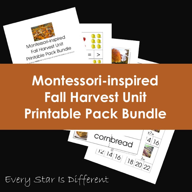 Montessori-inspired Fall Harvest Unit Printable Pack Bundle